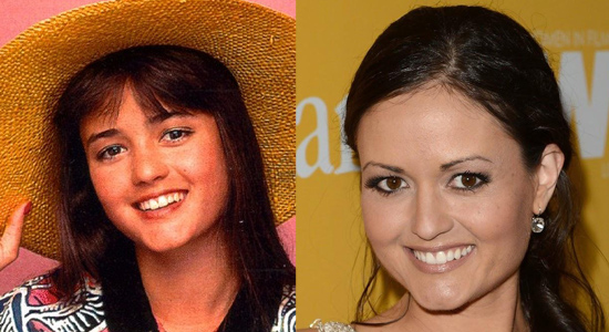 Danica McKellar - Then and now.