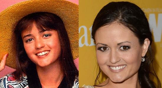 Danica McKellar - Then and now.
