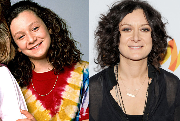 Sara Gilbert - Then and now.