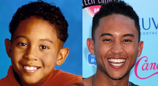 Tahj Mowry - Then and now.