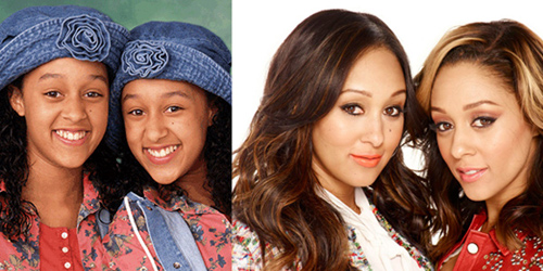 Tia and Tamera Mowry - Then and now.