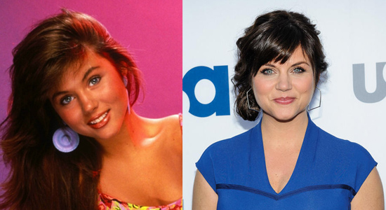 Tiffani Thiessen - Then and now.