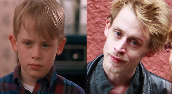 Macaulay Culkin - Then and now.