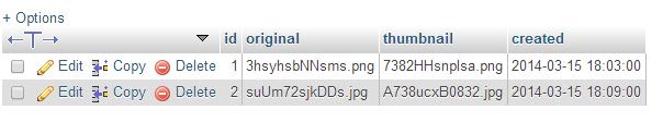 image references stored inside the database