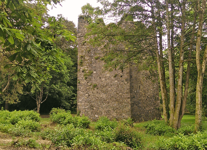 A Norman tower house in County Wexford, Ireland.