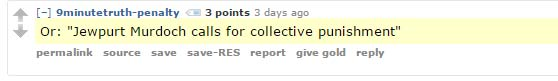 Antisemitism Reddit