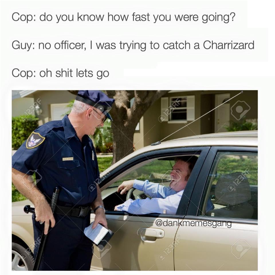 Cop Pokemon Go Meme