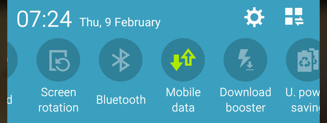 android mobile data option