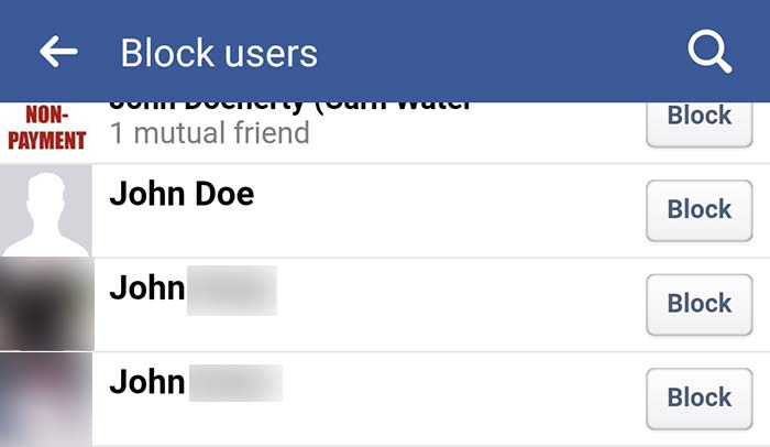 Block Facebook Users Screenshot