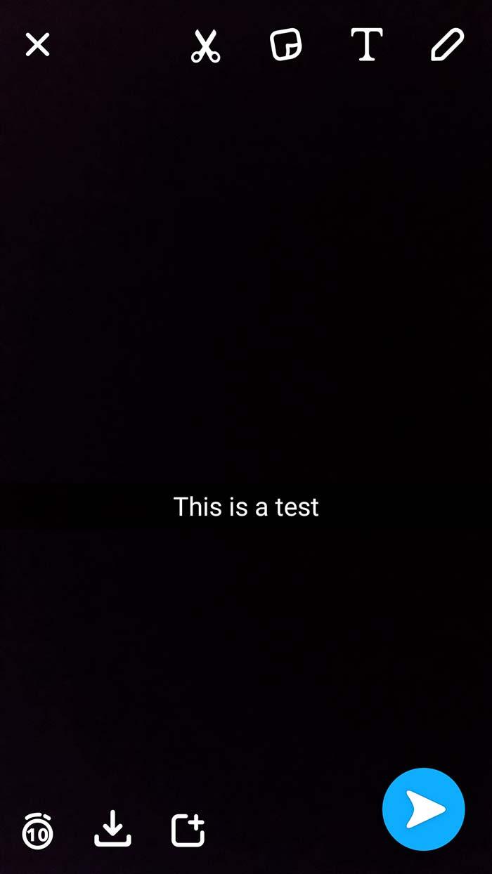 caption snapchat