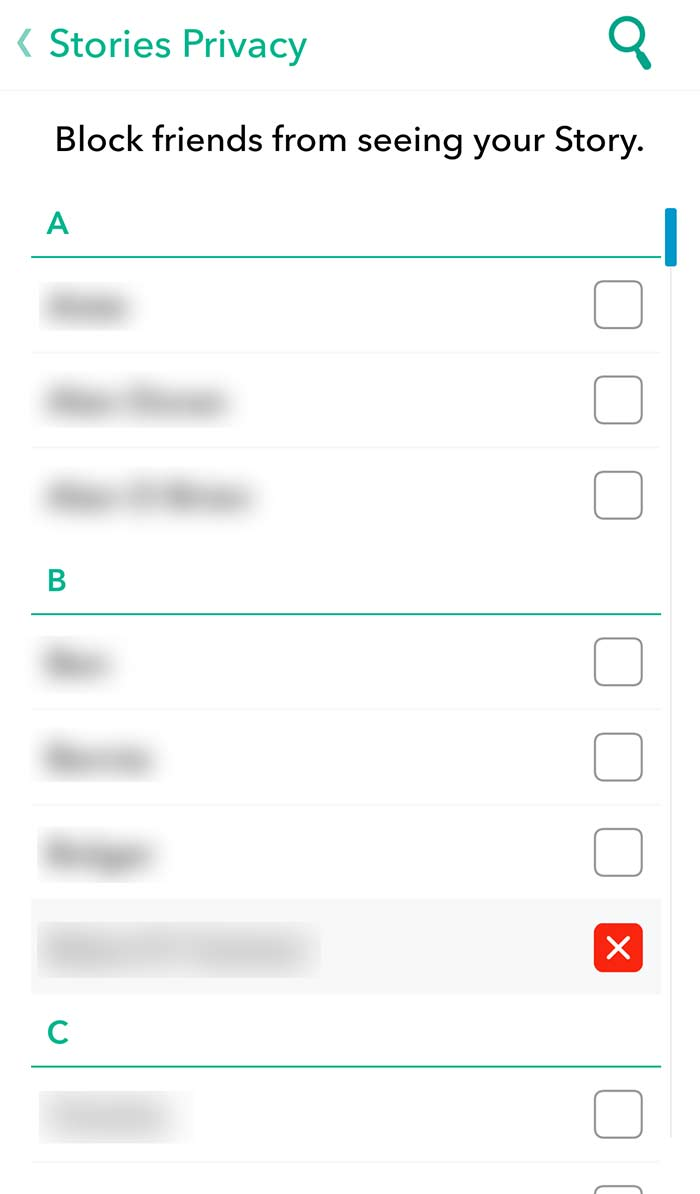 stories privacy snapchat