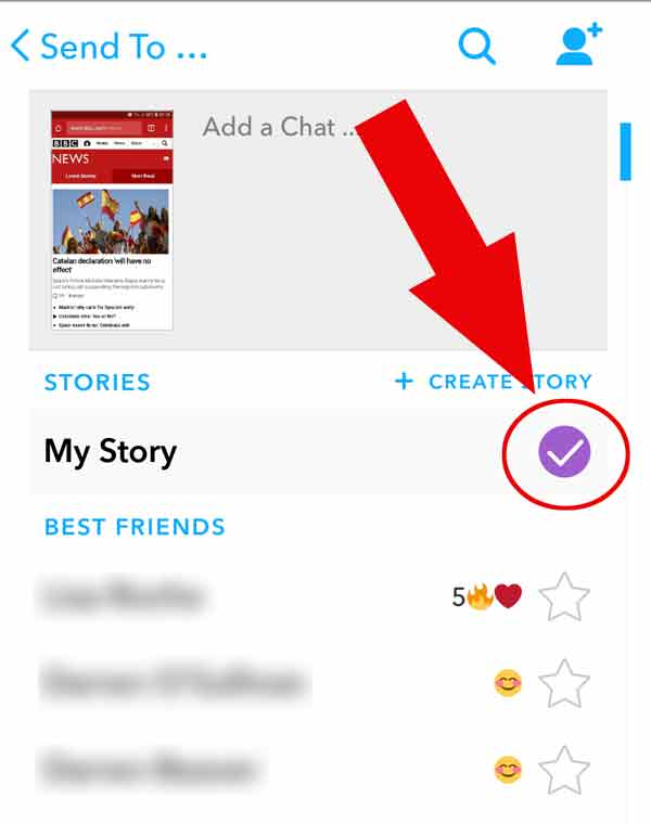 How to add a screenshot to your Snapchat story (Android)