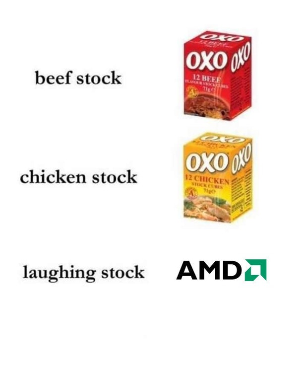 AMD laughing stock