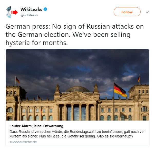 Wikileaks Russia Hysteria