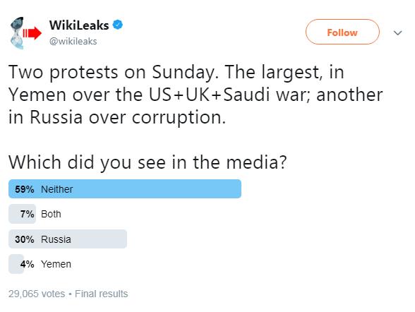 Wikileaks russia protest