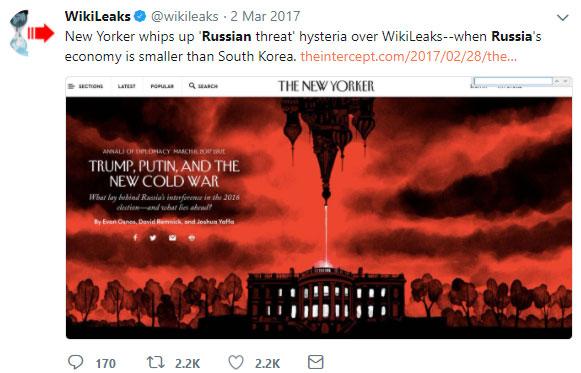 Wikileaks Russian Threat