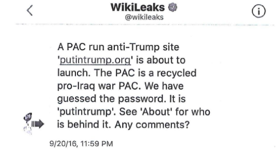 Wikileaks Donald Trump Jr.
