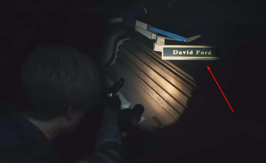 David Ford's desk.