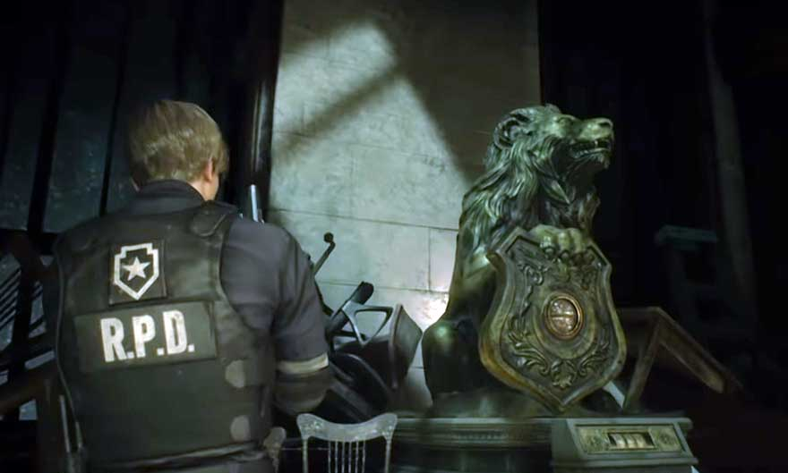 Lion Statue - Resident Evil 2