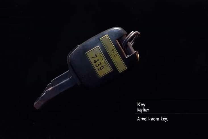 Well worn key resident evil 2