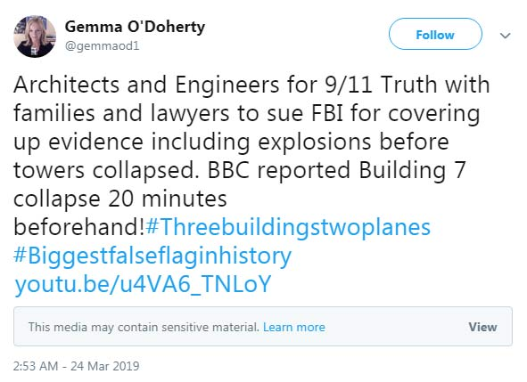 Gemma O'Doherty 9/11 attacks.