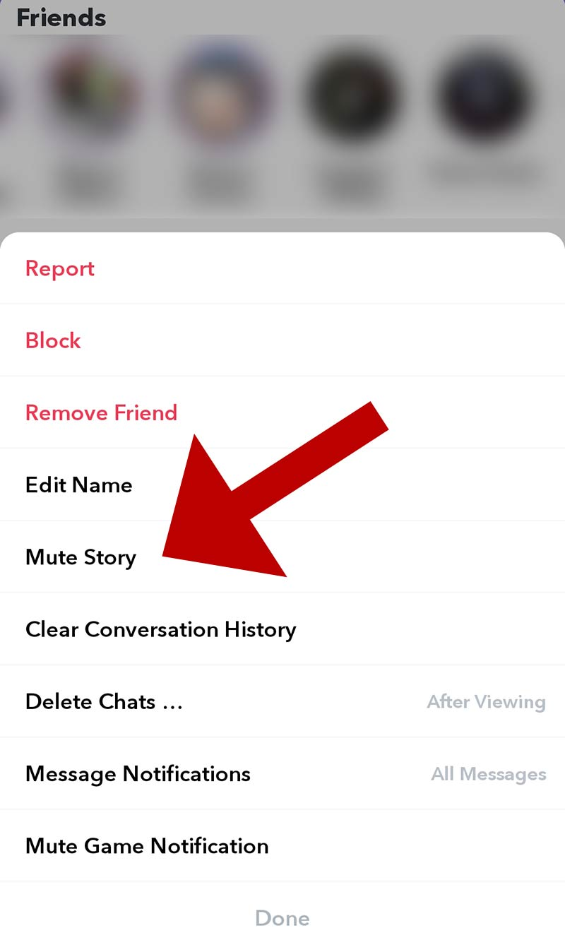 Mute a person's story on Snapchat