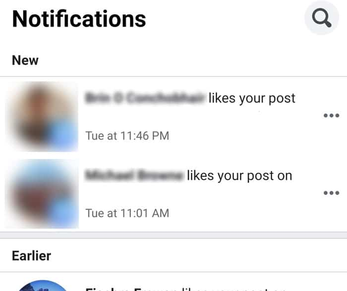facebook new notifications