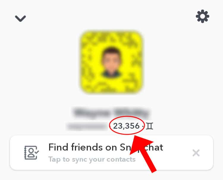 Your Snapchat score.